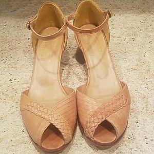 Vintage Genuine Leather Heels from Brazil